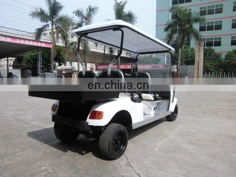 4 seater electric golf kart with cargo box CE approved