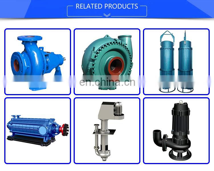 High Pressure High Quality Rubber Impeller Slurry Pump