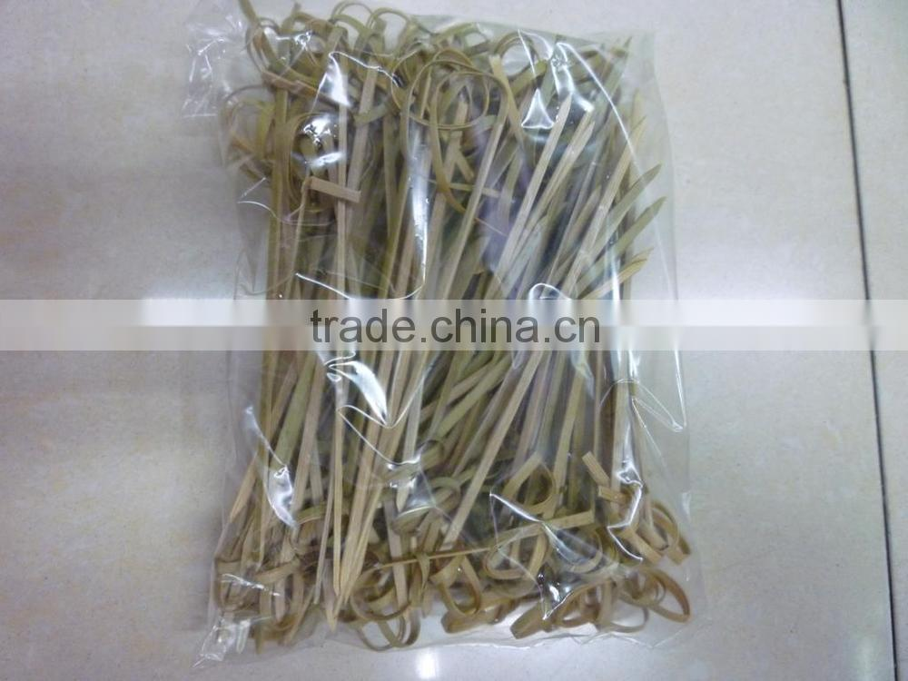 100%Natural mao bamboo knot bbq stick finger string