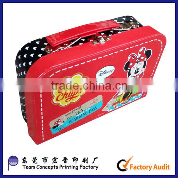 Custom paper suitcase box luggage box for candy packaged