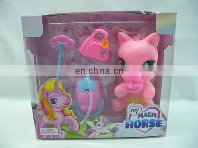 Kids rubber lovely pony horse doll toy