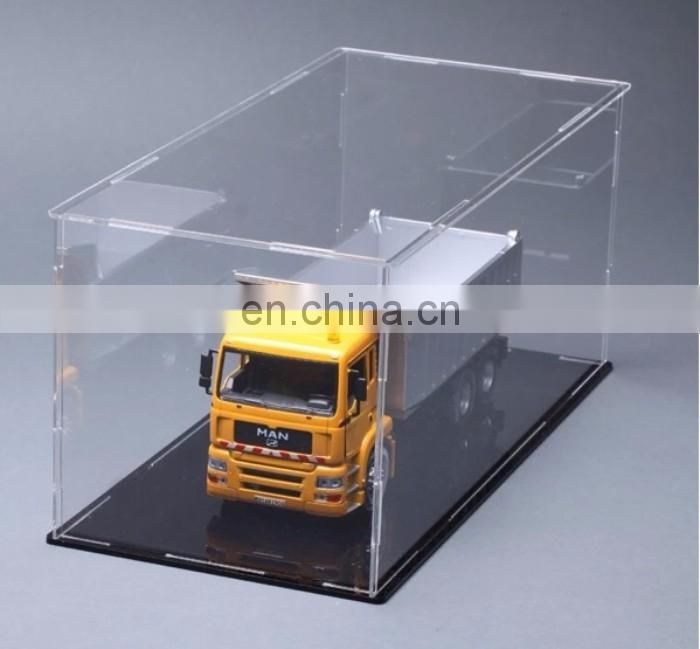 Square clear PMMA plexiglass acrylic display case for model car
