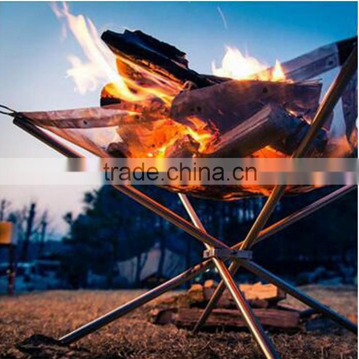 HOT!! Newest design stainless steel outdoor wood burning stove for your camping cookware