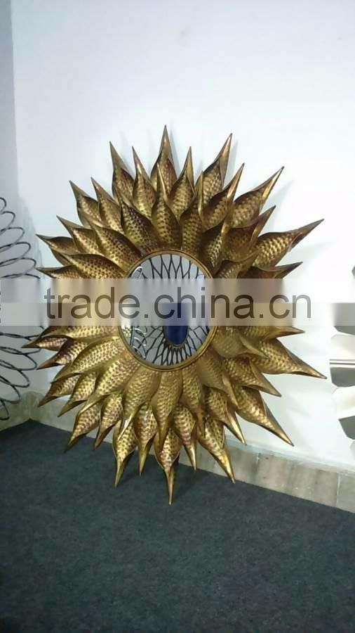 nickle plated aluminium metal wall mirror