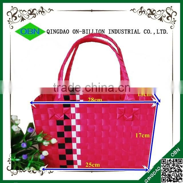 Colorful pp woven shopping basket