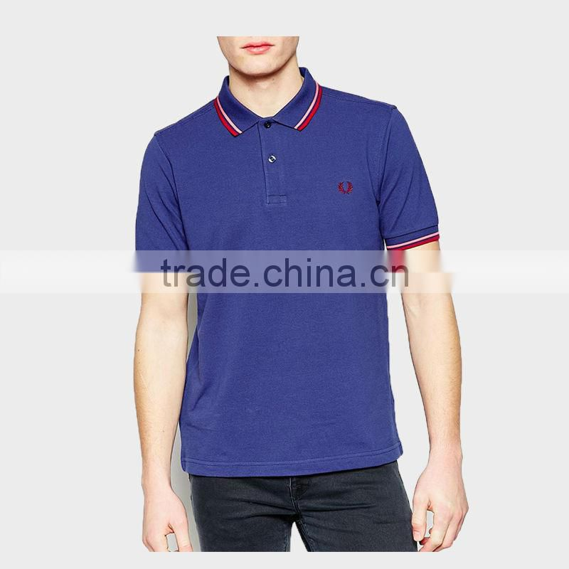 2015 Summer Men's Polo Shirt with Ribbon