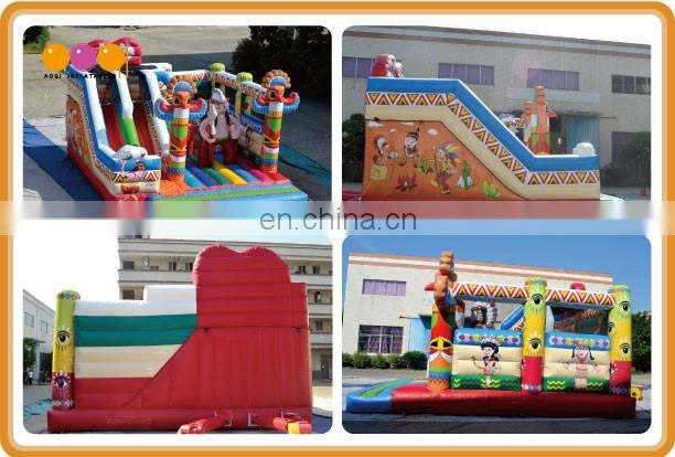 2016 AOQI newest design Indian totem inflatable combo bouncer for kids with free EN14960 certificate