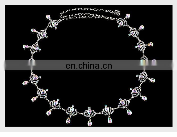 P-9101 Crown style indian belly dance chain belt
