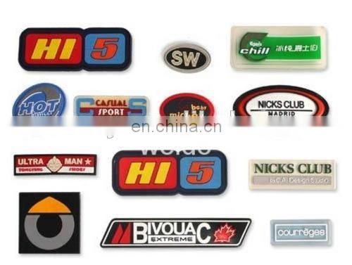 Custom Silicone patch Rubber Lable