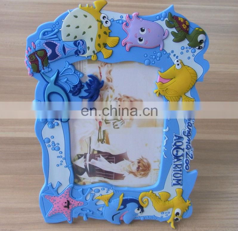 colorful soft pvc rubber promotional picture frames for kids