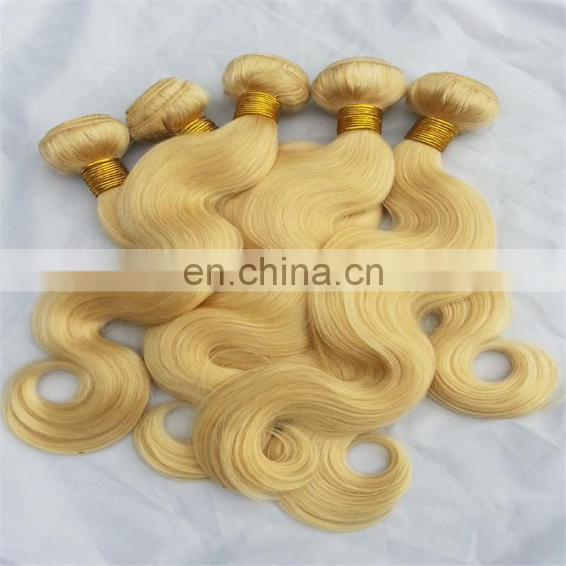 Alibaba hot selling blonde color 613# brazilian body wave hair China factory direct sale cheap 100% real human hair weaving