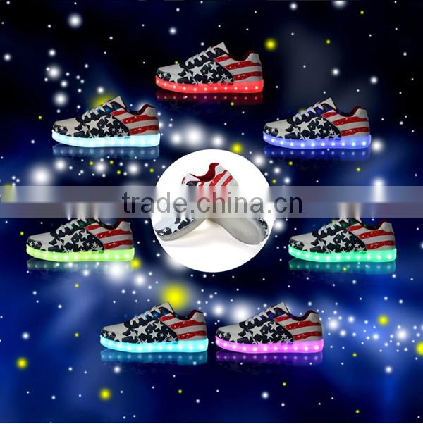 low price led light running shoes/rechargeable led shoes/simulation led shoes made in china