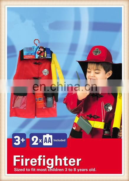 halloween party cosplay clothes for kids,firefighter costume for children