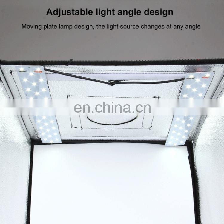 PULUZ 60cm Folding Portable 60W 2 x 1690LM 5500K White Light Photo Studio Shooting Tent Box Kit