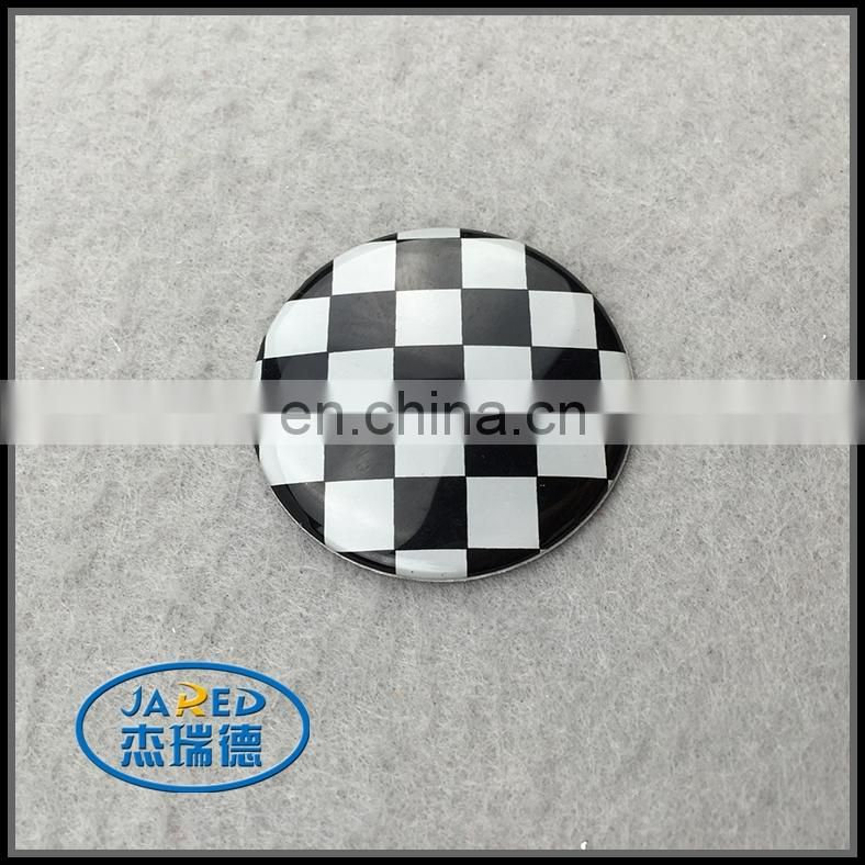 round car label metal badge for car