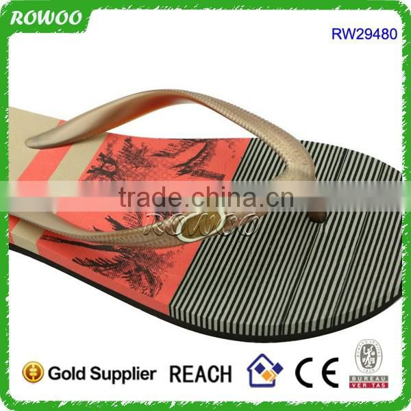 Cheap Two Layer EVA Lady's Flip Flop From Chinese Flip Flops Slipper