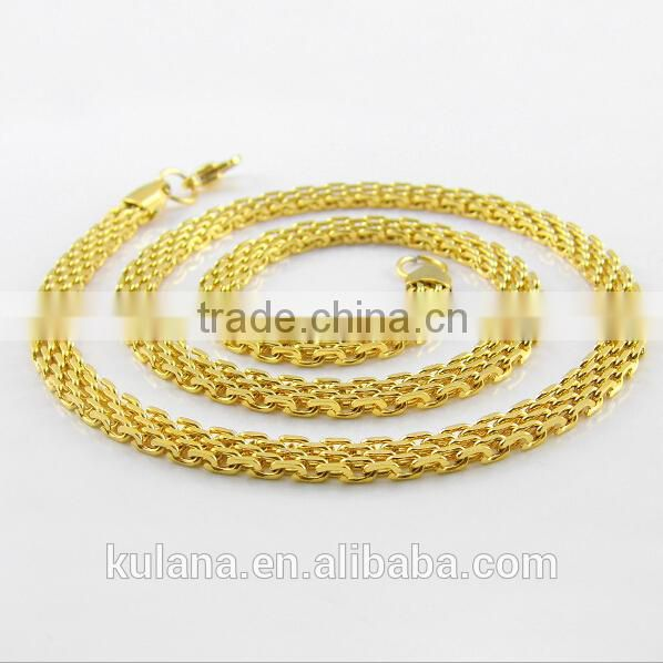 6mm Flat Mesh Chain Gold Necklace Designs in 10 grams 91803