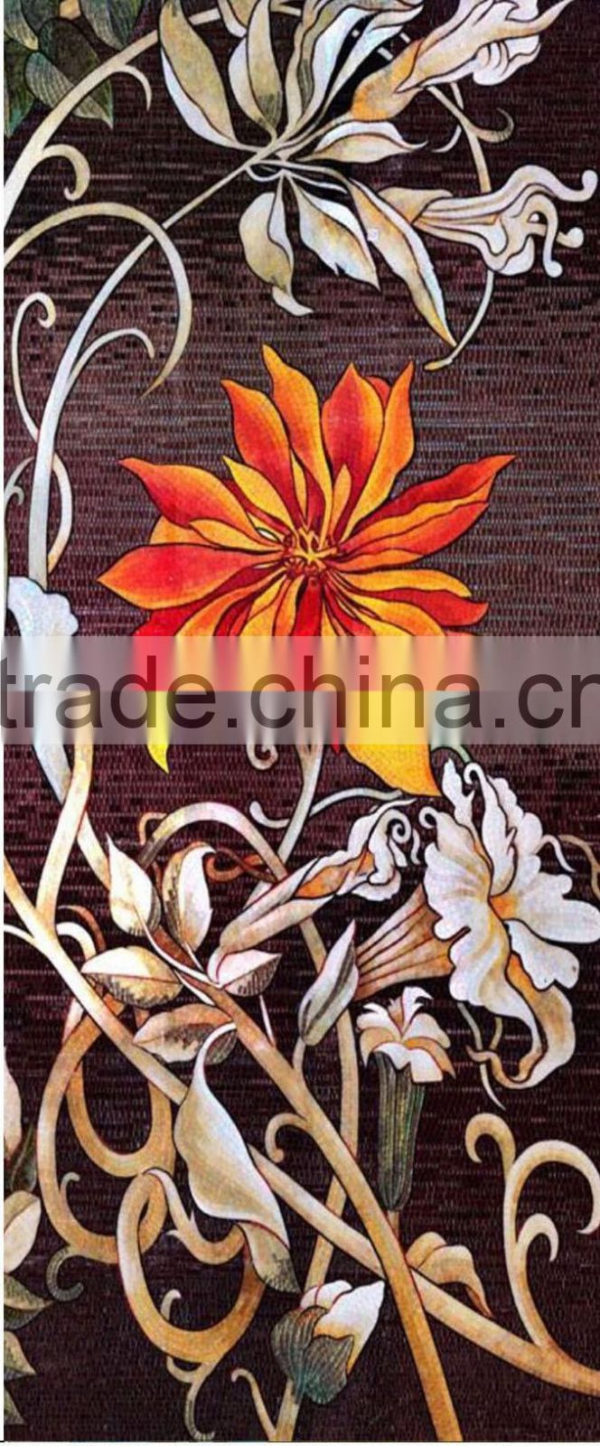 IMARK New Design Flower Pattern Mosaic Mural/Decorative Handmade mosaic Tile/Mosaic Art For Hotel/Cafe House Wall Decoration