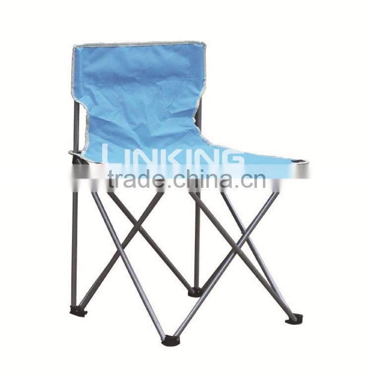 Blue folding chair without arm