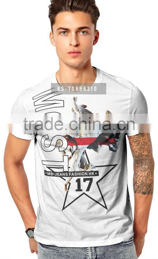 Wholesale Price Blank T Shirts with Custom Printing Men's T Shirts
