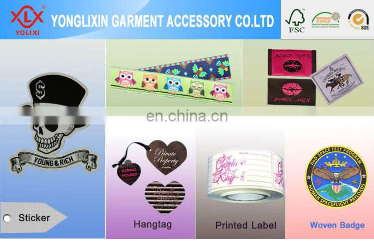 Fashion Apparel iron on woven badges
