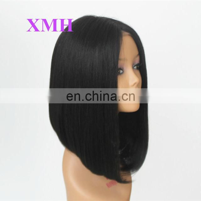 18 Inch In Stock Top Quality Glueless Short Bob Cut Wig Human Hair Peruvian Virgin Hair Full Lace Wigs Bob for Black Woman