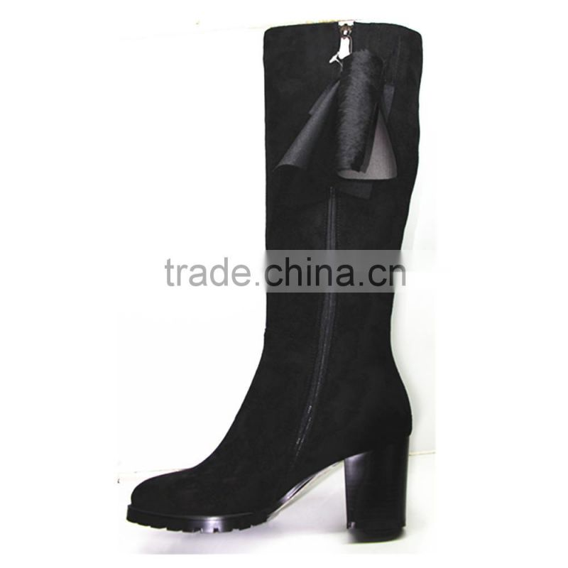 Brand quality suede women over knee high heel boots 2015