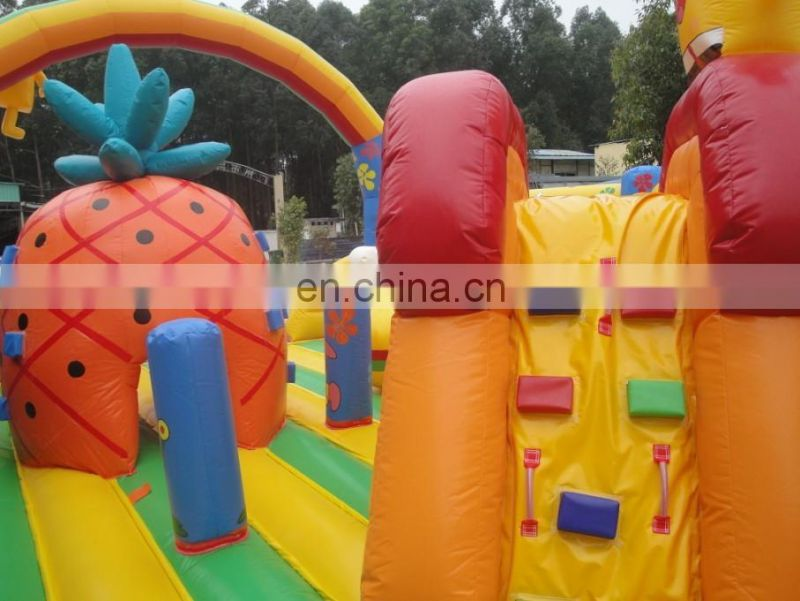 Inflatable Sponge Bob city playground,children playground