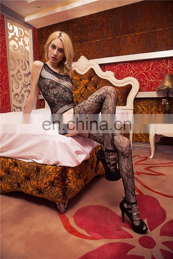 2015 Sexy Sheer Crotchless Girl Bodystocking Sexy Lingerie Hot