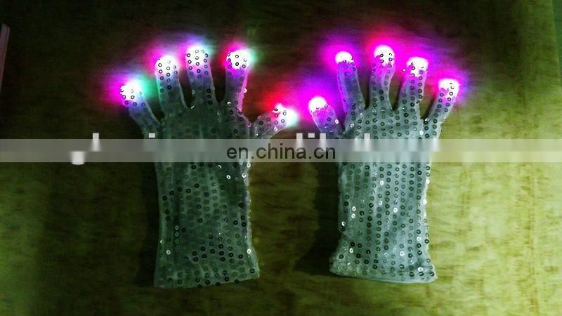 Fashionable LED light safe gloves led rave glove light magic flashing gloves