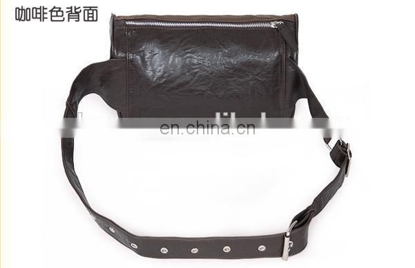 Good design man leather waist bag