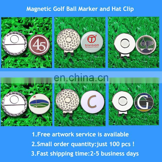 Custom stocks metal golf divot tool with magnet ball marker