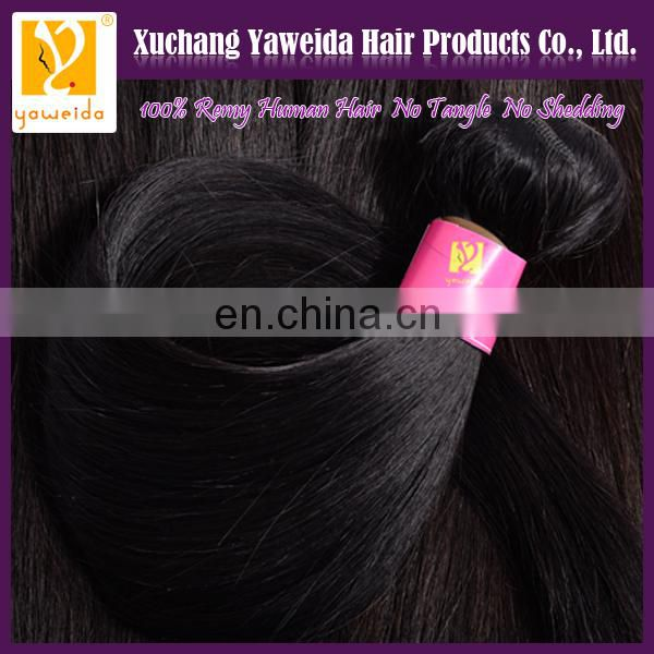 Xuchang braiding remy hair full cuticle silky straight natural color hair weaving