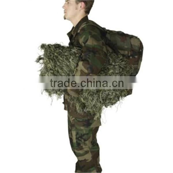 Tactical Woodland Camo Ghillie Blind or Camouflage Blanket Wrap