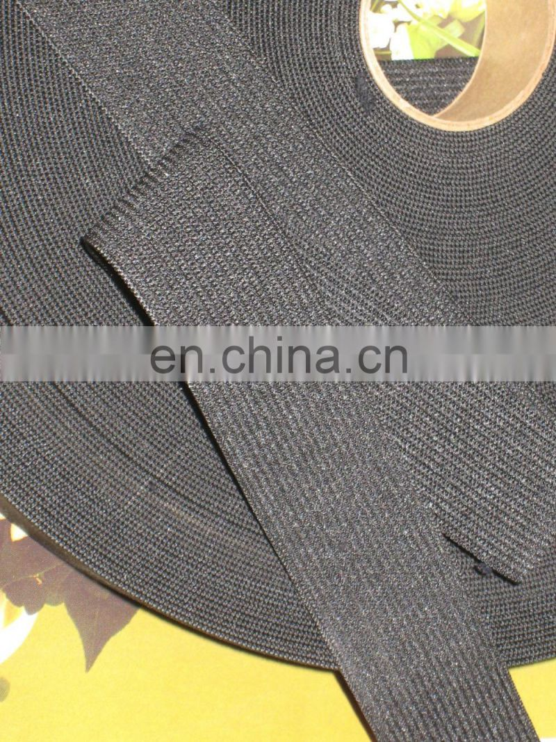 1.5'' black elastic band for garment