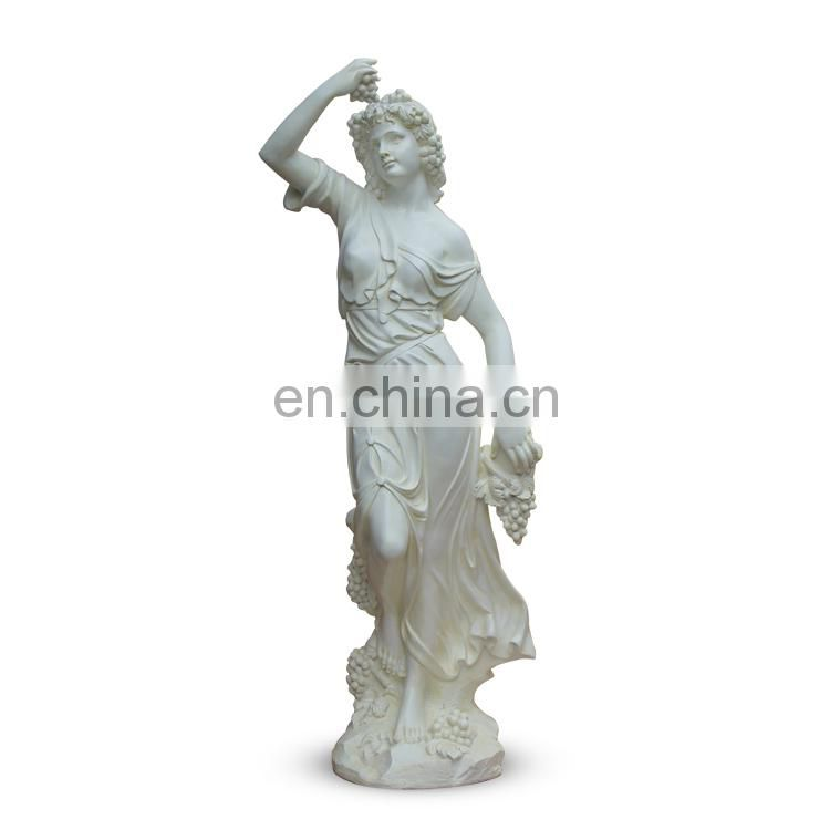 Big size white Mary statue for hotel lobby decoration