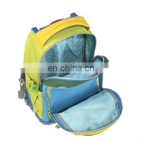 simple style trolley kids school bag with three compartments