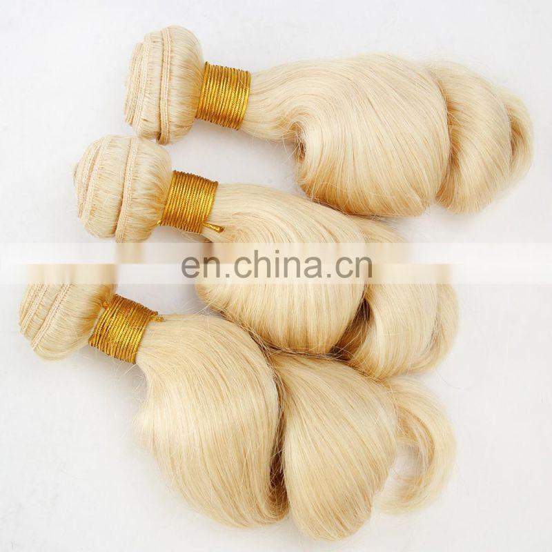 aliexpress uk 613 blonde color Brazilian hair bundles white women favorite hair weave hot sale