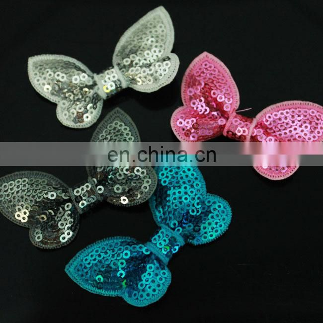 colorful DIY Sequin bow for baby hair accessories