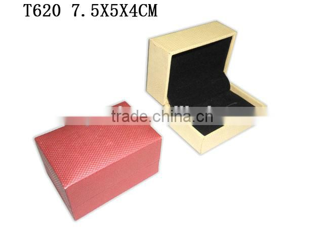 custom Fashion Jewelry Packaging Plastic Cufflink Gift Box PU Leather By China Factory T620