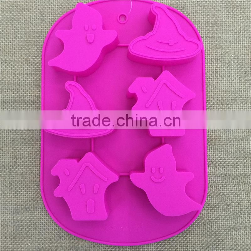 Ghost Shape Halloween Silicone Fondant Mold Cake Tools