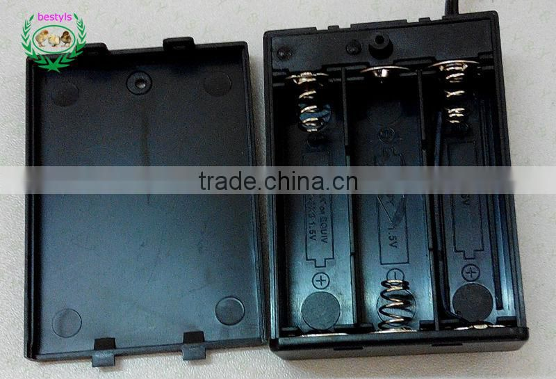 Top selling New 18650 Battery Holder Box Case 5.5*2.5 mm DC pluy AA 4.5V Battery Storage Box