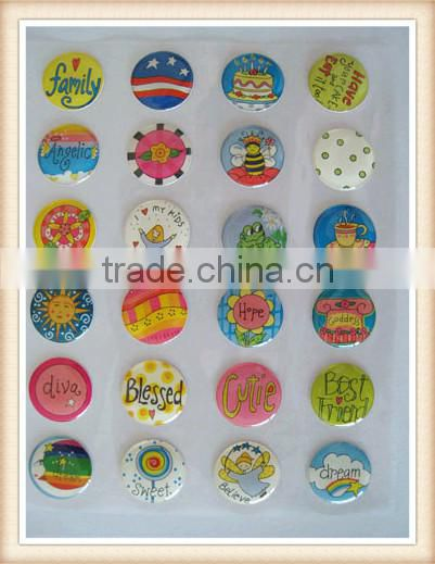 Customized Epoxy Stickers Round Letter Epoxy Resin Stickers Waterproof