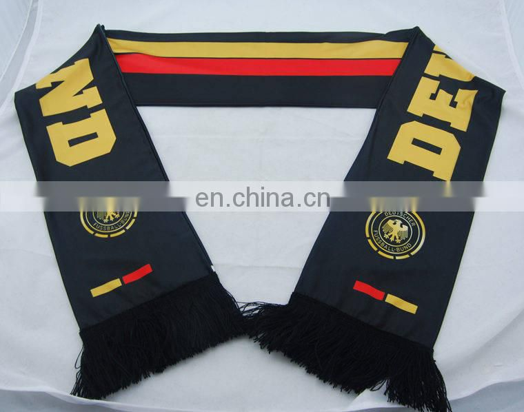 football fan scarf,polyester scarf,football team scarf,100% polyester scarf,poland football scarf