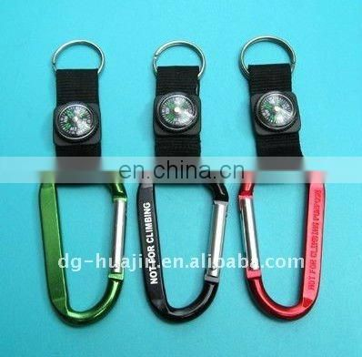 Carabiner with short lanyard Water bottle buckle