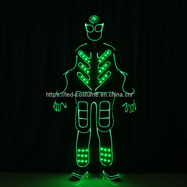 LED Luminous Glowing Costume Tron Dance Performance Show Event Costumes Image
