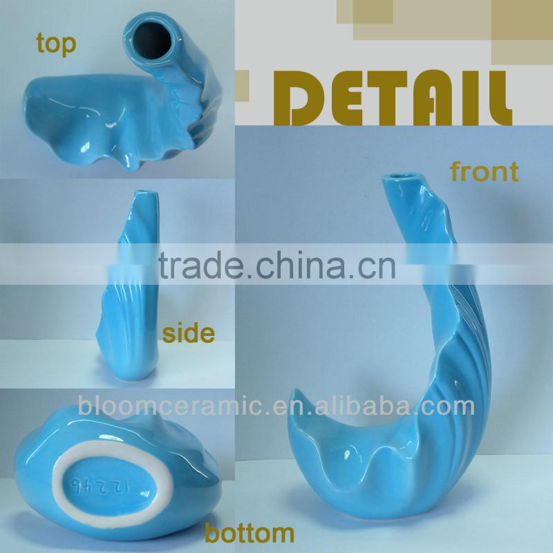 Blue ceramic decorative vase