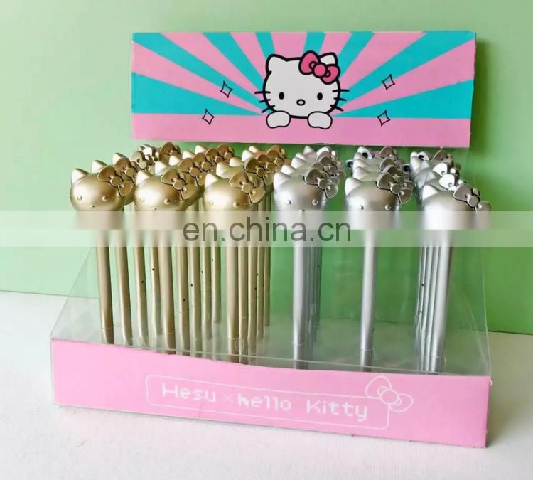 Cartoon Kitty Shape Gel Pen In Gold& Silver