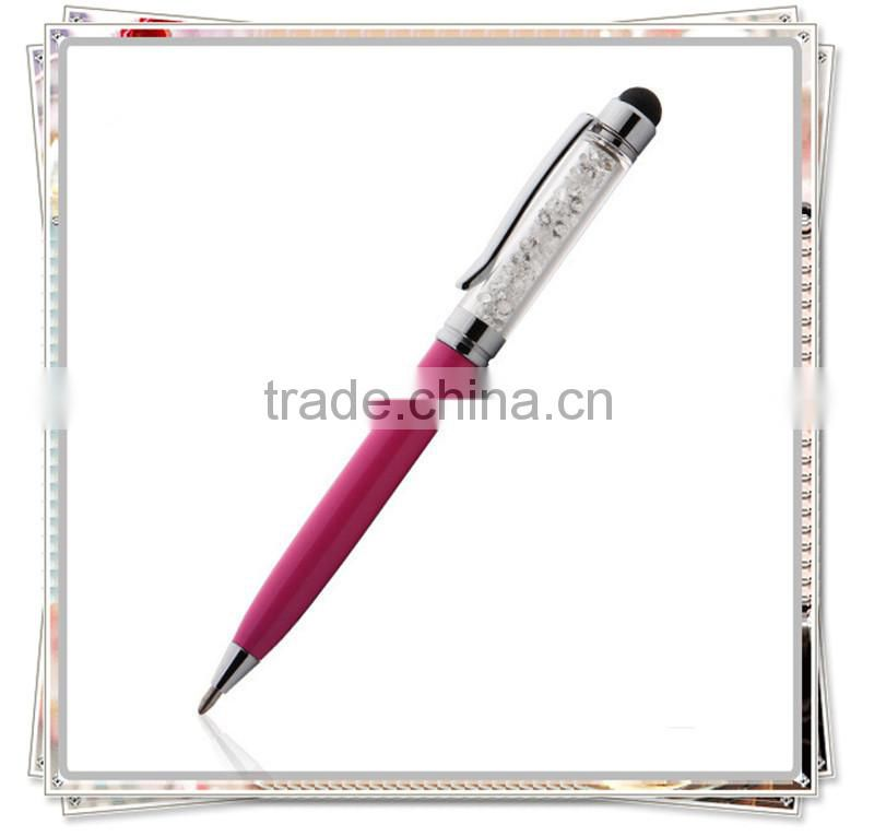 TCR-02 Popular crystal touch pen , crystal bling stylus pen