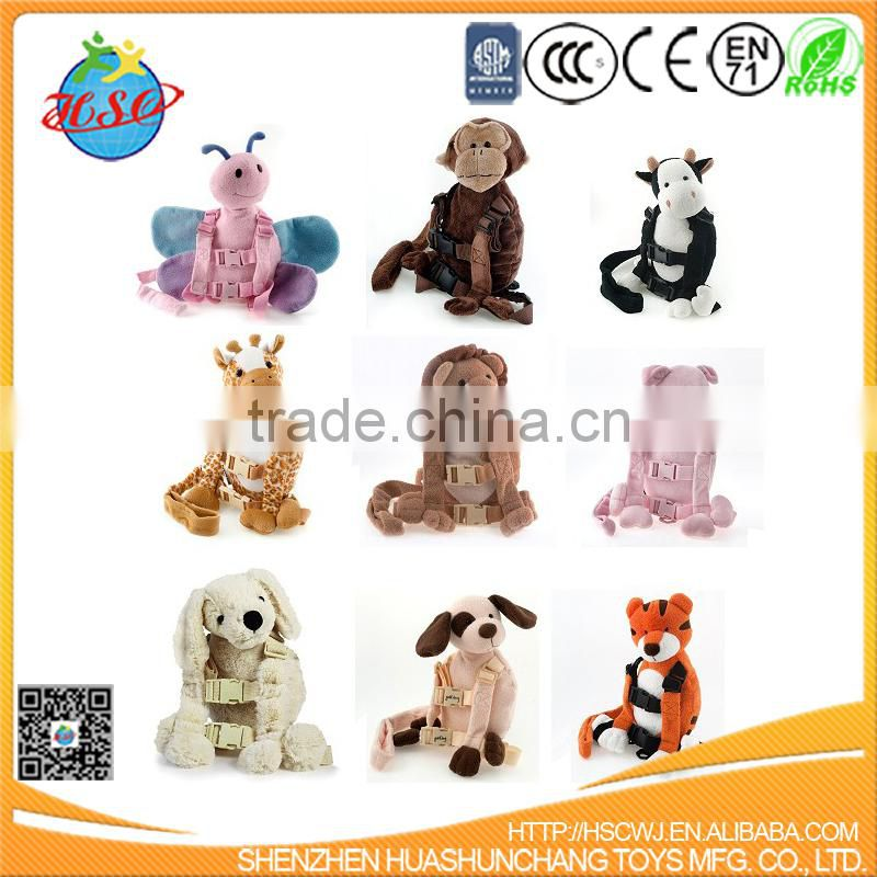 2017 hot sales Wholesale 2 In 1 Plush Animal Toy Baby Safety Harness
